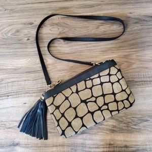 Alberta di Canio Calf Hair Crossbody Bag Purse